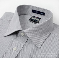 2013 fashion men's modal mila stylish grey plaid short sleeve designer brand shirt plus size  XS/S/M/L/XL/XXL/XXXL