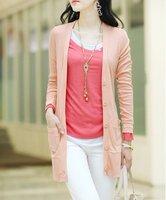Free shipping hot sale fashion women's classic coat, lady slim V neck cardigan coat long sleeved, Lady coat/jacket