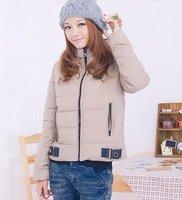 Free Shipping lady's zipper winter cotton down coat long sleeve, women's clothes winter