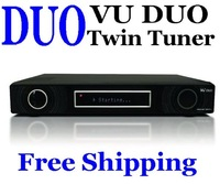 Vu Duo Vu+Duo Twin DVB-S2 tuner twin tuner PVR Linux Smart BCM7335 Digital dvb-s2 Receiver  DHL Free Shipping 1pcs/lot