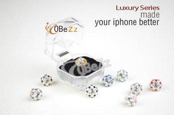 3.5mm Diamond Headset Dust ear Cap Plug   Bird's Nest Shape Crystal Dustproof Plug  for Apple Iphone 10pcs/lot Freeshipping