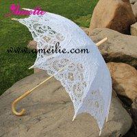 Wedding Handmade  Cotton Sun Batten Victorian Lace Parasol Umbrella