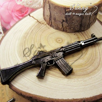 Min.order $10(mix order)Black Gun Plated(1PCS) Jewelry Accessory Fashion Gun M4 Model Charms(10002#)125*30 mm