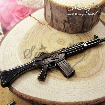 Min.order $10(mix order)Black Gun Plated(1PCS) Jewelry Accessory Fashion Gun M4 Model Charms(10002#)125*30 mm
