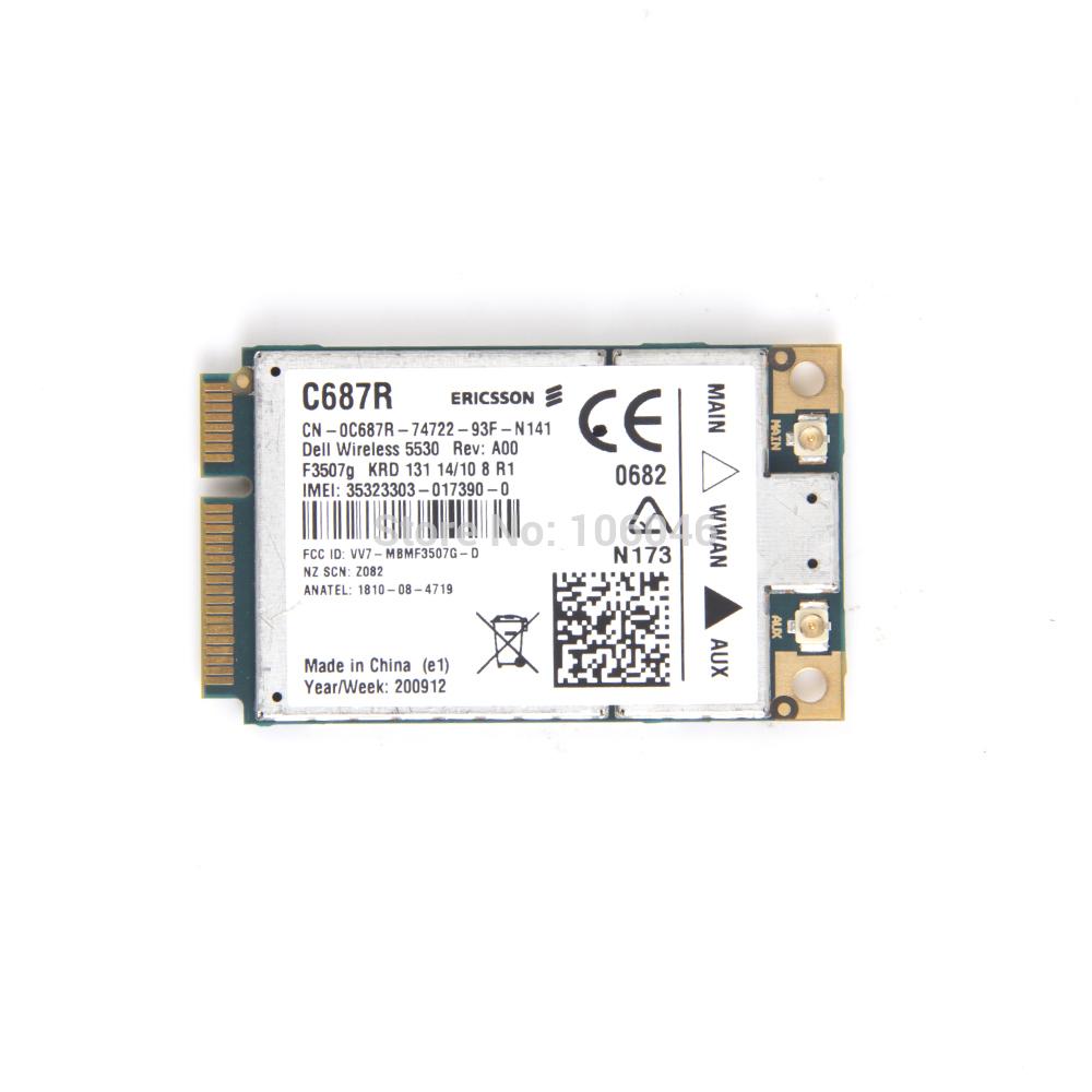 New F3507G 3G Wireless WWAN Card GPS XX982 for Dell 5530 3G UMTS HSDPA Windows Vista Windows XP(10137)(China (Mainland))