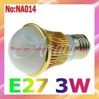 Wholesale AC 90V-265V 3W LED Bulbs E27 315LM 3 years Warranty Free shipping #NA014