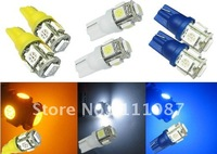 Hot SALE ! 80 PCS X T10 5 led 5050 W5W 194 168 wedge lamp 5 smd High Power LED clearance light parking light
