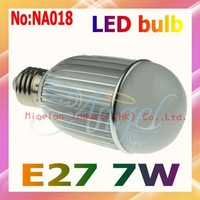 Wholesale AC 90V-265V 7W LED Lamp  with Epistar chip 3 years Warranty Free shipping #NA018