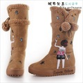 Lovely princess handmade pattern  snow boots  G-P011