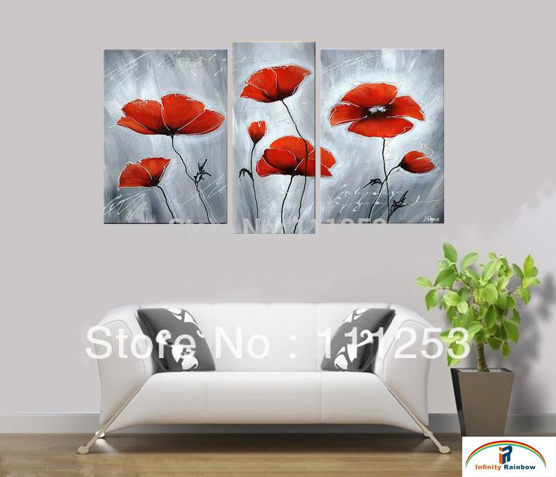 Online kopen wholesale papaver bloem schilderij uit china papaver bloem schilderij groothandel - Schilderij decoratie voor woonkamer ...