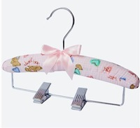 silk and satin with clothes peg pure color printed baby clothing hangers