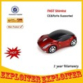 2.4 Ghz Optical 1200 DPI Car Shape Wireless Computer Mouse ,Free Shipping