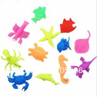 New Arrival hotsale Mixed style Growing Sea Animal Toy Promotional toy 100pcs/lot fast delivery  Free shipping