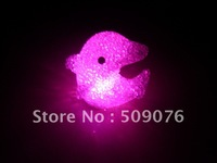 Free shipping 12pcs/lot 7color changing 10*8*5cm led dolphins light electronic candle led candle light for wedding decoration
