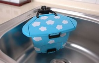 Fashion originality  lovable trash can with suction cup plastic trash can for desktop
