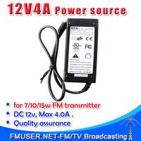 New! GVE 12V 4A  high quality  DC Power supply Power adapter CE FCC UL certificate for 7w 10w 15w 7w FM transmitter