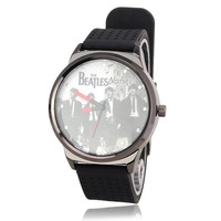 Big Cool The Beatles Soft Silicone Watchband Quartz Movement Wrist Watch 50429