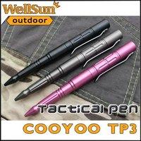 MOQ:1pc 100% Original CooYoo Military Tactical Pen 3 Colors Personal Security Multi Tool Tactical Survival Kit Pen Tool #TP3