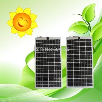 2 X 80W Semi-Flexible solar panels panel for car boat varavan CE, total 160w