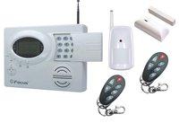 Voice guide LCD text & diagram display 32 wireless 8wired zones w PIR & door contact easy DIY home security burglar & fire alarm