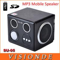 Wholesale Mini Sound Box Boombox MP3 Mobile Speaker SD Card Reader USB SU05 Mini Portable Speakers For Mobile Phone & Computer