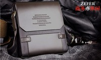ZEFER  2012 New Arrival Genuine Leather Men's handbag,shoulder bag,hard bag,Genuine leather bag, free shipping