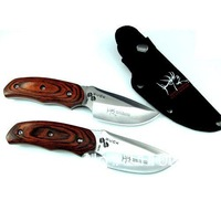 Free shipping 440C Steel 58Hrc Buck 076 Hunting Knife, Camping Knife, Survival Knife KF-016