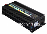 Free shipping! HOT SALE! 1500W Pure Sine Wave Power Inverter with CE, ROHS approved(3kw peak power) 12V/220V