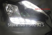 Free shipping High quality KIA K2 / 2012 KIA new RIO led daytime running light drl  fog light CPAM EMS DHL UPS  retail wholesale