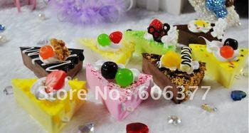 sweet ice cream/fruit cake squishy phone charm/ free shipping