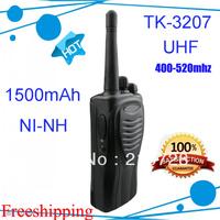 DHL freeshipping 2pcs/lot tk3207 Best price UHF 400-520MHZ handheld 2 way radio (TK-3207)