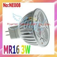 Free shipping wholesale 3W MR16 LED Spot Light 360LM  for DC12V input #NE008