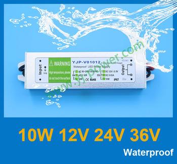 10w12v24v36v Waterproof power supply,power adapter,transformer 220v 12v,led driver ROHS,CE,IP67,Fedex free shipping,30pcs/lot