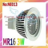 Wholesale MR16 LED Spot light 3W AC 90-265V with Epistar chip Free shipping 3 year Warranty # NE013