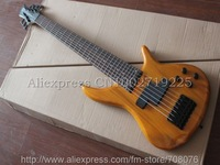 Wholesales CHeap H&S 7 String Electric Bass Guitar In Wooden Finish No Case