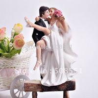 Free shipping Resin Sexy Dancing Bride & Groom Figurine Wedding Cake Topper