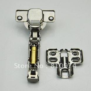 100 Pcs  Hydraulic hinge Cabinet HardwareDoor Drawer half overlay soft closel Hinge Damping