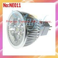 Wholesale 4W LED Spot light MR16 AC 90-265V with Epistar chip Free shipping 3yr Warranty CE ROHS # NE011
