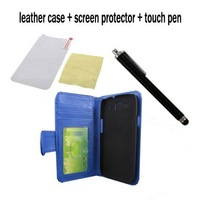 high quality leather case for Samsung Galaxy SIII S3 i9300+Screen Protector +Stylus