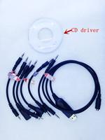 6 in one USB programme cable for kenwood ,baofeng,motorola,yaesu,icom two way raido walkie talkie  good quality freeshipping
