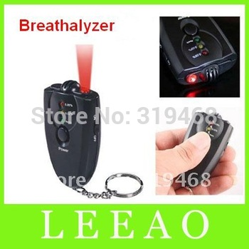 150pcs/lot Breathalyzer LED Light Accurate Breath Alcohol Tester Flashlight Black Colored Free Shipping