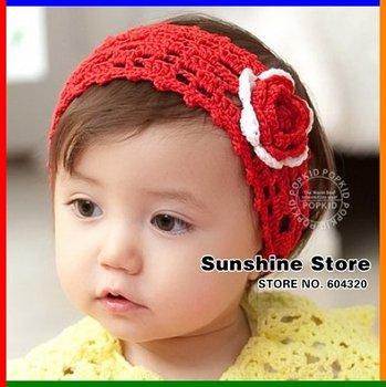 baby Crochet Headbands headwear hand hook crochet knitted hairband wool accesorios para el pelo #2B2115  10pcs/lot(3 colors)