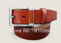 MES Free shipping 100% Genuine Leather men's belt High quality girdle hot sale brand girdle exquisite belts LHS1303