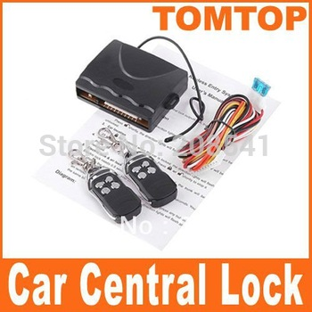 Car Alarm System Car Remote Central Lock Locking Keyless Entry System with Remote Controllers Free Shipping
