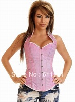 Free shipping!! New Strapless Boned Corset Black sexy lingerie  leather corset  sexy bustier   wholesale