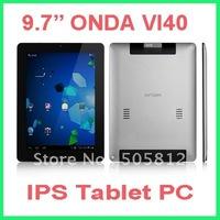 Hottest sale Onda Vi40 Elite 9.7`` Android 4.0 Ice Cream Sandwich Tablet PC Allwinner A10 1. 5Ghz 1GB RAM 8GB