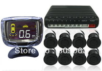 Car Reversing Parking Sensor System - 8 Parking Sensors, Command Module Box, Display LCD Monitor