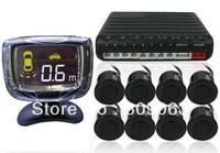 Car Reversing Parking Sensor System - 8 Parking Sensors, Command Module Box, Display LCD Monitor
