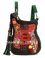 Woman Backpack Guitar Shape Canvas Backpack Woman Messager Bags