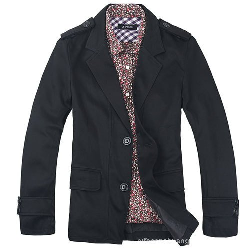 Free shipping Hot Fashion Corduroy Vintage Stylish Men's Suit Blazer, A buckle Slim Business Suit Color:2 Color Size:M-XXL